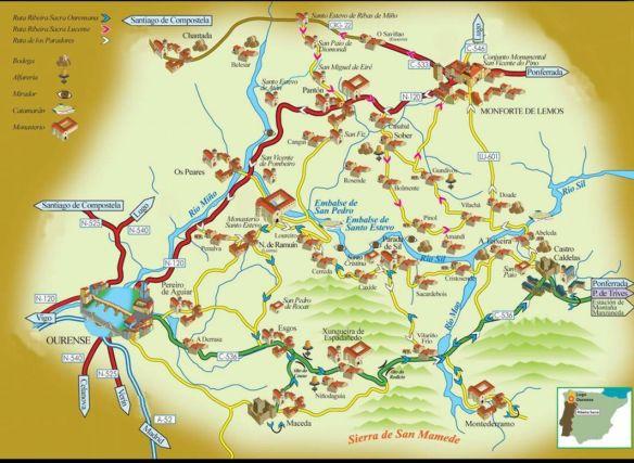 Mapa de Paradores.